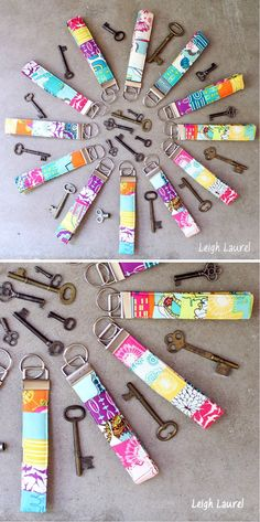 Cheap and Easy DIY Crafts to Make and Sell   Scrappy Key Fobs by DIY Ready at http://diyready.com/18-more-easy-crafts-to-make-and-sell/