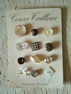 button collection...