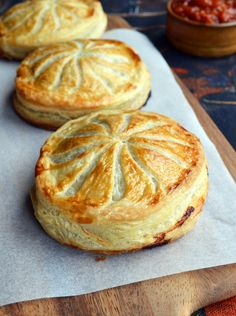 Beef and mushroom Pithiviers. One Equals Two
