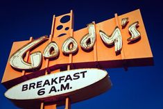 Goody's Restaurant Neon Sign Print Googie Art | Retro Kitchen Decor