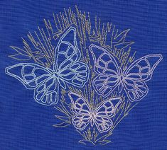 Sashiko Style Butterflies