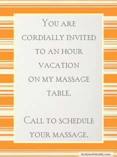A massage is like taking a mini vacation. Call Tranquil Rhythms Massage for your hour of bliss. Enjoy your massage in the comfort of your home. Call Jim @ to book your session today! Inquire about our prices,discounts and specials! Spa Quotes, Massage Quotes, Massage Tips, Massage Benefits, Massage Techniques, Spa Massage, Massage Table, Massage Chair, Massage Clinic