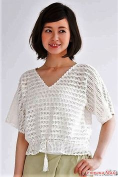 Sweaters For Women, Men Sweater, Crochet Magazine, Baby Knitting, Knitted Hats, Crochet Patterns, Short Sleeves, Tunic Tops, Clothes For Women