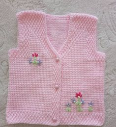 Fancy Spring Flower Fiber Model Making Örgü Modelleri Baby Hat Knitting Pattern, Baby Hat Patterns, Sweater Knitting Patterns, Baby Knitting, Crochet Baby, Baby Vest, Baby Cardigan, Diy Crafts Crochet, Tunisian Crochet
