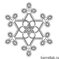 Ажурные снежинки
