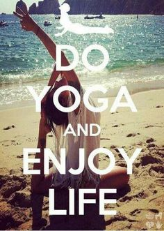 Do Yoga And Enjoy Life! Better yet, Practice Yoga and Enjoy Life! Yoga Bikram, Yoga Kundalini, Sup Yoga, Pilates, Yoga Inspiration, Motivation Inspiration, Fitness Inspiration, Yoga Fitness, Workout Fitness