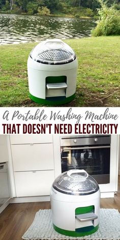 """A Portable Washing Machine That Doesn't Need Electricity — Have you ever heard the saying """"cleanliness is next to godliness""""? now this can be true even if you live off grid or your power is out for weeks at a time. Bus Life, Camper Life, Diy Camper, Camper Van, Portable Washing Machine, Clean Washing Machine, Washing Machines, Manual Washing Machine, Rv Hacks"""