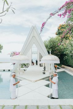Ivory and Blue Bali Wedding at Tirtha Bridal