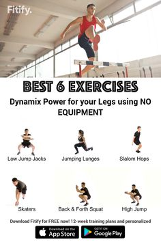 Plyometric training using NO Equipment