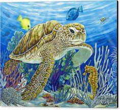 Surfboard Painting, Turtle Painting, Sea Turtle Art, Sea Turtles, Baby Turtles, Underwater Painting, Art Watercolor, Mundo Animal, Sea Art