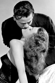"""Rita Hayworth & Glenn Ford in """"Gilda"""" 1946."""