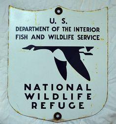 Very RARE Vintage National Wildlife Refuge Hunting Fishing Porcelain Sign Nice | eBay
