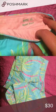 "Lilly Pulitzer Walsh short Great condition! Walsh short are 3"" Lilly Pulitzer Shorts"