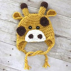 giraffe hat - Download this free pattern at allcrochetpatterns.net