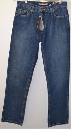 NWT TOMMY HILFIGER Classic Straight Men's Holis Medium Wash Jeans Pants Sz 30/30 #TommyHilfiger #ClassicStraightLeg