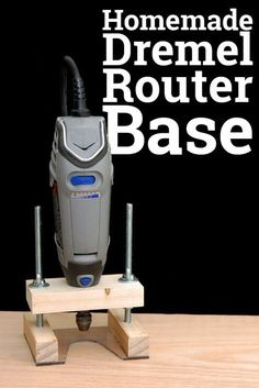 Woodworking Tips Do It Yourself Dremel Router Base. How I made a router base for my Dremel rotary tool. - Do It Yourself Dremel Router Base. How I made a router base for my Dremel rotary tool. Dremel Tool Projects, Easy Woodworking Projects, Popular Woodworking, Fine Woodworking, Diy Wood Projects, Woodworking Classes, Woodworking Furniture, Dremel Ideas, Intarsia Woodworking
