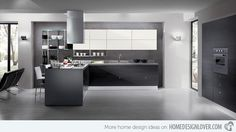 15 Black and Gray High Gloss Kitchen Designs | Home Design Lover
