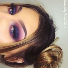 Purple eyeshadow and glitter!