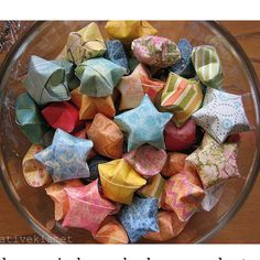 Neat idea, each star has a message. Something like like a fortune cookie!  7thhouseontheleft