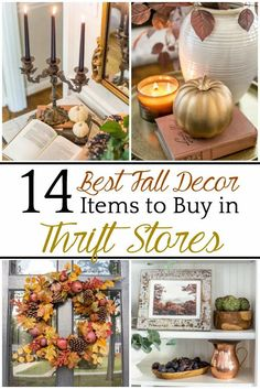 14 Best Fall Decor Items to Buy in Thrift Stores | A round-up of 14 commonly found thrift store items that work perfectly in fall decor or year-round   tutorials for creating cozy decor.