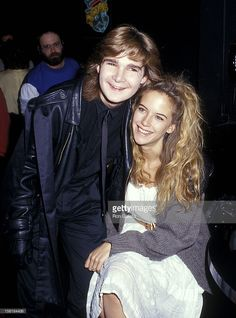 Actor Corey Feldman and actress Kelly Preston attended the Young Artists United Press Conference to Speak About Teen Suicide at The Comedy Store in West Hollywood, California, USA, 24 March 1987.