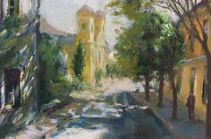 Uzonyi Ferenc: Egri utca Utca, Painting, Art, Art Background, Painting Art, Kunst, Paintings, Performing Arts, Painted Canvas