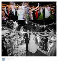 Bride and Groom Exit Flower Petals Las Vegas Wedding