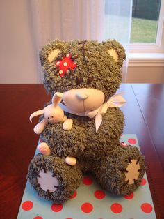 Children's Birthday Cakes - my teddy bear base on the tutorial from bake-a-boo!