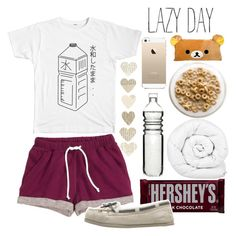 """""""Lazy day"""" by haruno-hikari ❤ liked on Polyvore featuring H&M, Hershey's, Brinkhaus and Dot & Bo"""