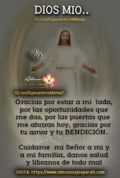 Danos tu protección Night Prayer, God Prayer, Prayer Quotes, Daily Prayer, God Loves You, Jesus Loves, God Jesus, Jesus Christ, Prayer Images