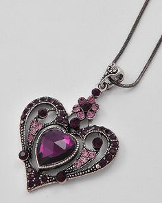 @Kay Wantland Heart Pendant Necklace: Jewelry