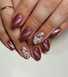 Fabulous Nails, Perfect Nails, Gorgeous Nails, Pretty Nails, Rose Nails, Pink Nails, Colorful Nail Designs, Nail Art Designs, Fingernails Painted