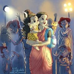 Shri Ganesh Images, Shiva Parvati Images, Shiva Hindu, Hindu Deities, Krishna Art, Hindu Art, Hinduism, Lord Shiva Statue, Lord Shiva Pics