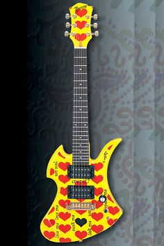BURNY by Fernandes YH-JR - Heart Yellow hide signature model (X Japan)