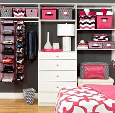 Room organizer, I love all the different storage bins!