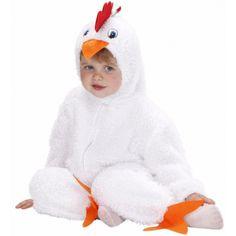 Disfraz de Pollito Blanco para Bebe