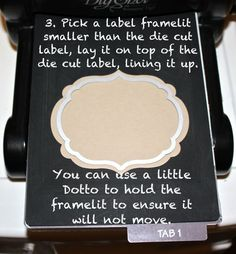 How to emboss with a Stampin' Up Framelit