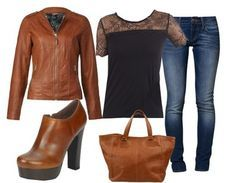 Casual outfit cognac
