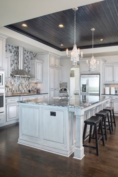 Glam-Slam Kitchens From Common to Couture - 435 Magazine - January 2015 · Wood CeilingsTray ... & Idea for our kitchen where the old flourescent lighting was. | For ... azcodes.com
