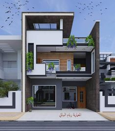 Top 60 Modern House Design Ideas For 2020 - Engineering Discoveries - Top 60 Mo. - Top 60 Modern House Design Ideas For 2020 – Engineering Discoveries – Top 60 Modern House Desi - Narrow House Designs, Modern Exterior House Designs, Best Modern House Design, Modern House Facades, Latest House Designs, Modern Architecture, Architecture Interiors, Modern Design, 3 Storey House Design