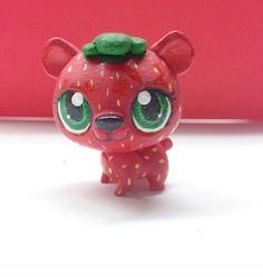 Cute LPS Strawberry Bear Custom by AprilsLPSCustoms on Etsy