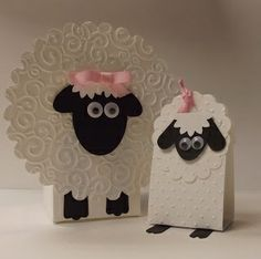 stampin up lambs | Stampin' Up! Punch Art by Sandy D at stamping sanity: Little Lambs