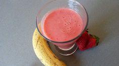 Batido de fresas y plátano – Frullato alle fragole e banana