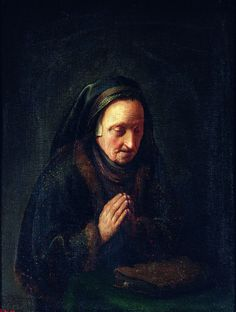 Gerrit Dou Old woman in prayer (Rembrandt's mother), between 1630 and National Museum in Warsaw Rembrandt, Pablo Picasso, Gerrit Dou, Potrait Painting, Learning To Pray, Johann Wolfgang Von Goethe, Dutch Golden Age, Divine Mercy, Dutch Painters