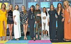 Gigi Hadid, Martha Hunt, Hailee Steinfeld, Cara Delevingne, Selena Gomez, Taylor Swift, Serayah, Mariska Hargitay, Lily Aldridg and Karlie Kloss