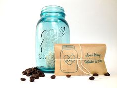Coffee Wedding Favors. Set of 50 freshly by AproposRoasters