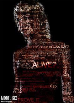 Quote-portrait of Model Six from Battlestar Galactica. #bsg #geek #photoshop