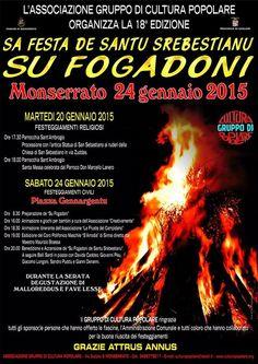 SU FOGADONI – SA FESTA DE SANTU SREBESTIANU – MONSERRATO – SABATO 24 GENNAIO 2015