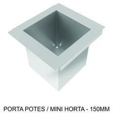 PORTA POTES/MINI HORTA - 150mm Ótimo para colocar potes de temperos utilizados na culinária.