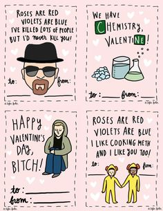 Breaking Bad Valentine Cards - Printable File